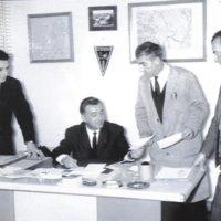 Marcel Barbanceys et son équipe